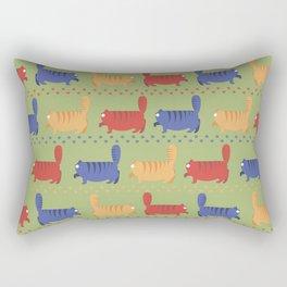 March of fat cats Rectangular Pillow