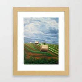 Stormy Harvest Framed Art Print