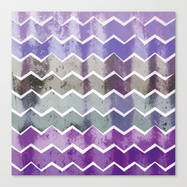 CHEVRON STRIPES - PURPLE Canvas Print