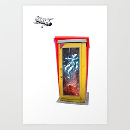 space call to germany Art Print