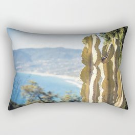 Seacoast of Palinuro with its wonderful crystal clear water sea and caves Rectangular Pillow