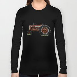 Vintage IH Farmall 450 Side View Red Tractor Long Sleeve T-shirt