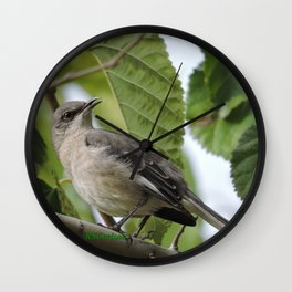 Mockingbird in a Mulberry Tree Wall Clock
