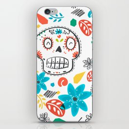 Summer sugar skulls iPhone Skin