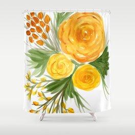 Harvest Floral Bouquet Shower Curtain