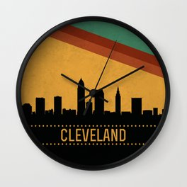 Cleveland Skyline Wall Clock