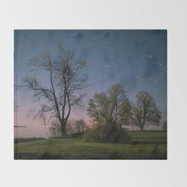 Spring Nights in Sandbanks Throw Blanket