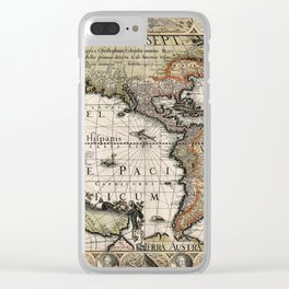 Map Of America 1614 Clear iPhone Case