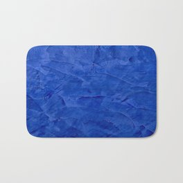 Dark Classic Blue Ombre Burnished Stucco - Faux Finishes - Venetian Plaster - Corbin Henry Bath Mat