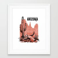arizona Framed Art Prints featuring Arizona by Krikoui