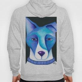Blue Dog original artwork by Deb Harvey Hoody