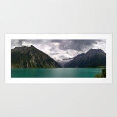 Schlegeis Lake, Austria | Panorama Art Print