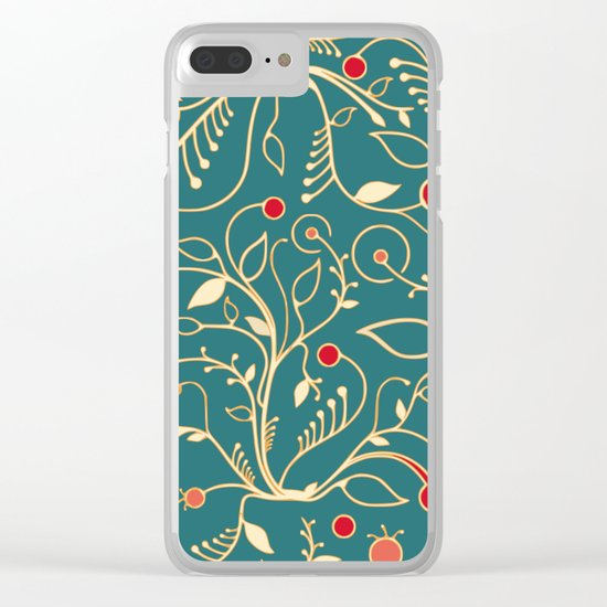 Vintage vines Clear iPhone Case