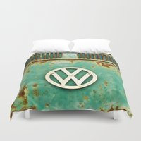 vw Duvet Covers featuring VW Retro by Alice Gosling