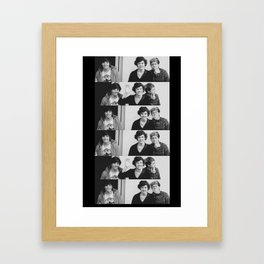 One Direction - Louis Tomlinson, Harry Styles, and Niall Horan - B&W Framed Art Print