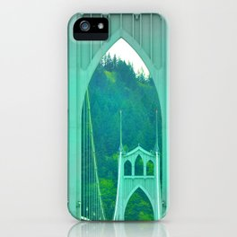 St. Johns Bridge Portland Oregon iPhone Case
