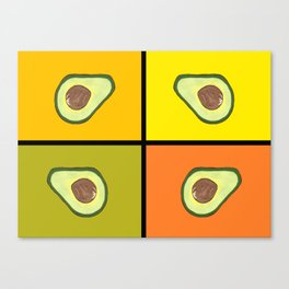 Tiled Avocado Canvas Print