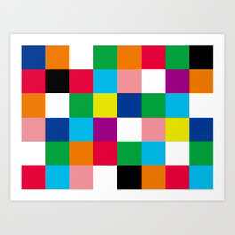 Crazy Checkered Flag Art Print