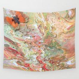 Orange Butterfly Wall Tapestry
