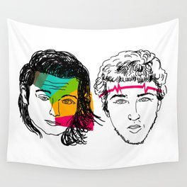 Daft Punk portrait Wall Tapestry