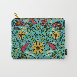 aziza turquoise Carry-All Pouch