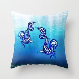 Hippocampus Knot Throw Pillow