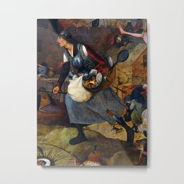 "Pieter Bruegel the Elder ""Dulle Griet"" (anglicized as ""Dull Gret""), also known as ""Mad Meg"" Metal Print"