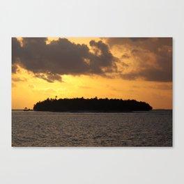 Sunset over Vilamendhoo, South Ari Atoll, Maldives Canvas Print