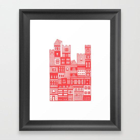 Tangerine Castle Framed Art Print