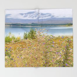 Field of Lupines Throw Blanket