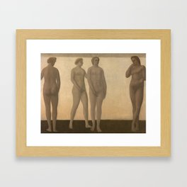 Nature Goddess Artemis by Vilhelm Hammershøi 1894 Framed Art Print