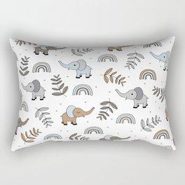 Little Elephant safari rainbow love neutral nursery Rectangular Pillow