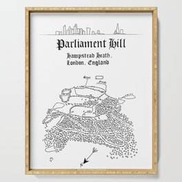 Parliament Hill Cross-Country Course Map Serving Tray
