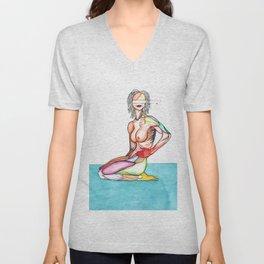 Copeland 2, Misty Copeland anatomy, NYC Artist Unisex V-Neck
