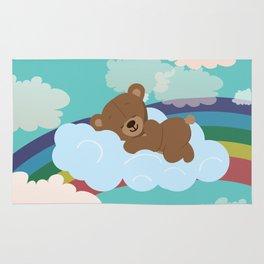 Teddy Bear and clouds Rug