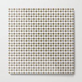 Bitcoin vs Litecoin pattern Metal Print