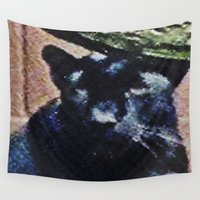 panther Wall Tapestries featuring Panther by grapeloverarts