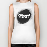brave Biker Tanks featuring Brave by thezeegn