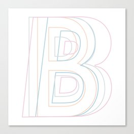 Intertwined Strength and Elegance of the Letter B Canvas Print