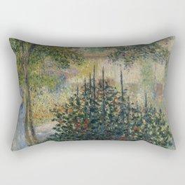 """Claude Monet """"Camille Monet in the Garden at Argenteuil"""" Rectangular Pillow"""