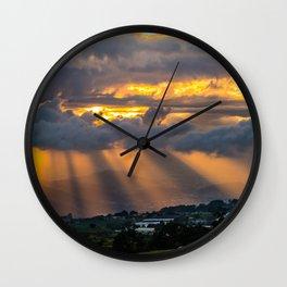 Sunset Cartago, Costa Rica Wall Clock