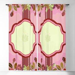 Floral frame Blackout Curtain