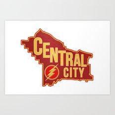 Central City map Art Print