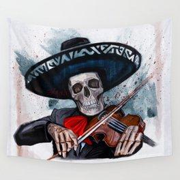 El Mariachi - Dia De Los Muertos Wall Tapestry