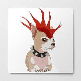 Bad Ass Chihuahua Metal Print