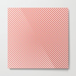Peach Echo and White Polka Dots Metal Print
