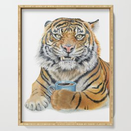 Too Early Tiger Serving Tray