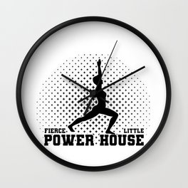 Gymnast Fierce Litte Power House Gymnastics Wall Clock