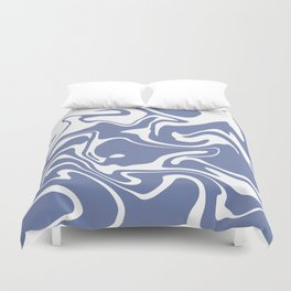 Soft Violet Liquid Marble Effect Design Duvet Cover