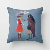 calcifer Throw Pillows featuring The Secret World by CromMorc